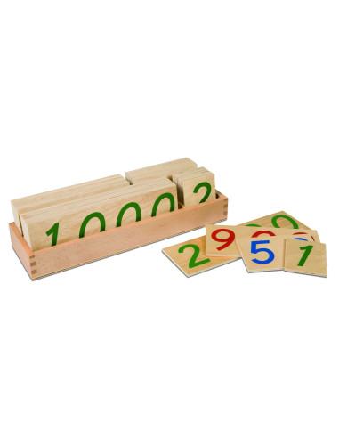 Nienhuis - Drewniane karty z liczbami, 1-9000, duże