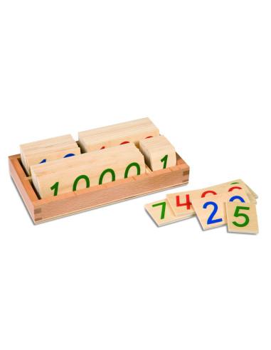 Nienhuis - Drewniane karty z liczbami, 1-9000, małe