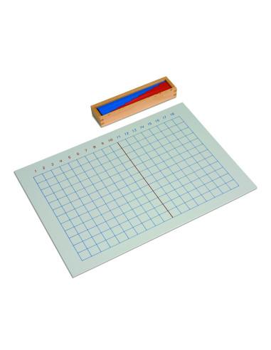 Nienhuis - Tablica i pudełko z listewkami, dodawanie