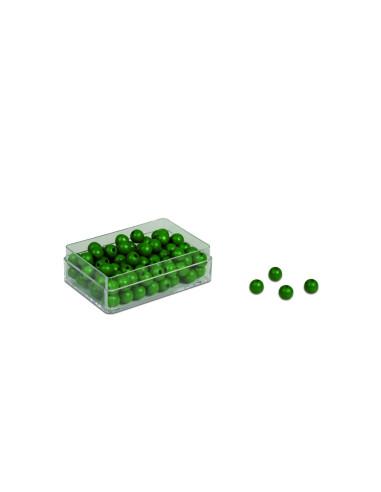 Nienhuis - 100 koralików zielonych