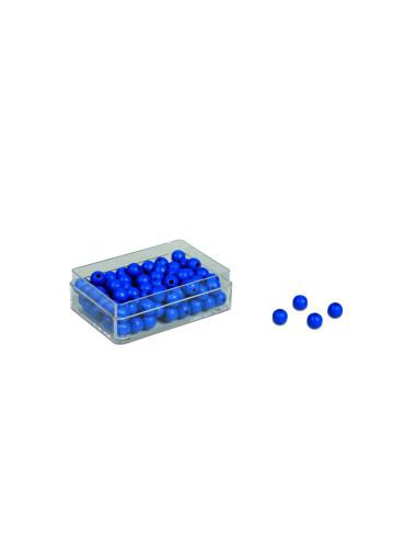 Nienhuis - 100 koralików niebieskich