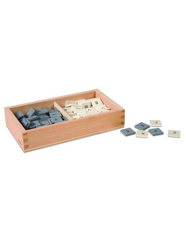 Nienhuis - Pudełko z szarymi i białymi numerkami