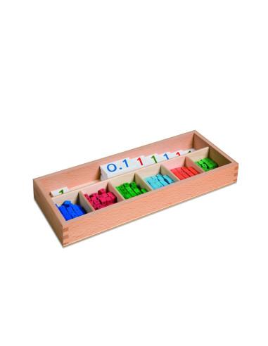 Nienhuis - Pudełko do ćwiczeń z ułamkami dziesiętnymi