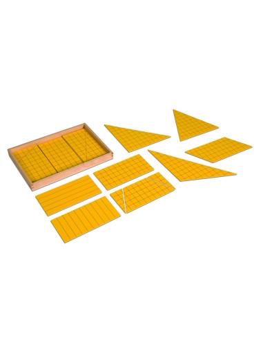 Nienhuis - Żółte trójkąty przedstawiające powierzchnię