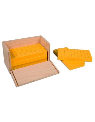Nienhuis - 5 żółtych graniastosłupów z podziałką