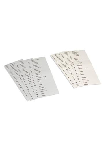 Nienhuis - Podpisy do zestawu II kart botanicznych