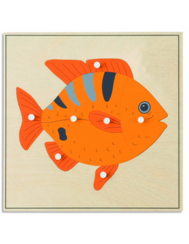Nienhuis - Puzzle ze zwierzętami - ryba