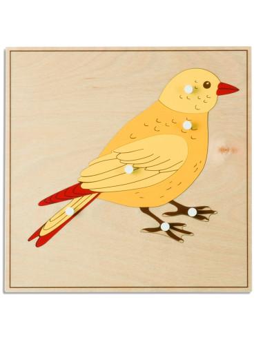 Nienhuis - Puzzle ze zwierzętami - ptak