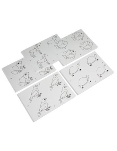 Nienhuis - Puzzle - zwierzęta, karty pracy do kopiowania