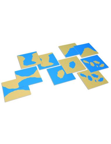 Nienhuis - Karty z kształtami lądów i wód