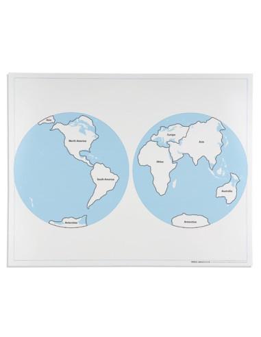 Nienhuis - Dwie półkule - mapa kontrolna, z podpisami