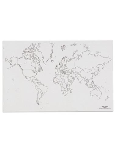 Nienhuis - Mapa świata - polityczne