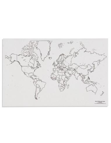 Nienhuis - Mapa świata - polityczne z jeziorami