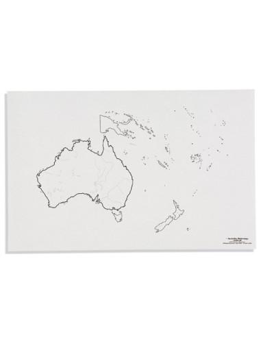 Nienhuis - Mapa Australii - cieki wodne