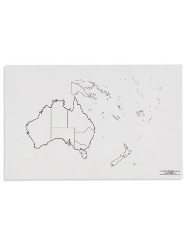 Nienhuis - Mapa Australii - polityczne
