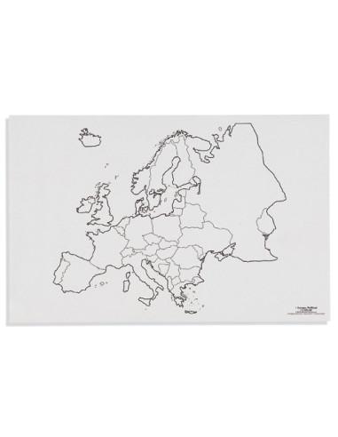 Nienhuis - Mapa Europy - polityczne