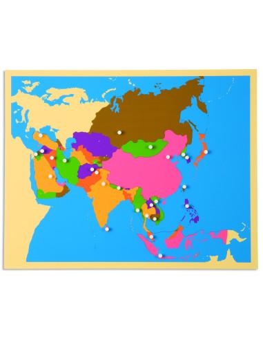 Nienhuis - Puzzlowa mapa Azji