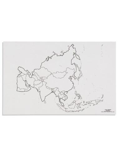 Nienhuis - Mapa Azia - polityczne