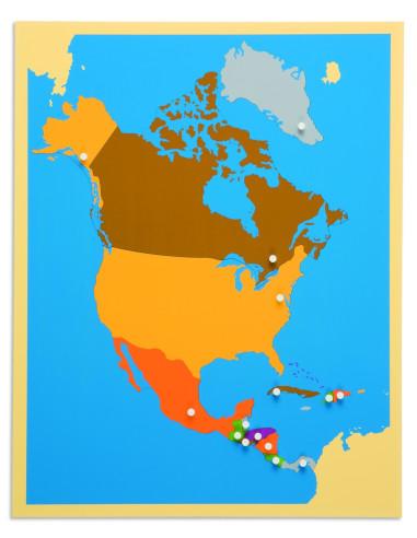 Nienhuis - Puzzlowa mapa Ameryki Północnej