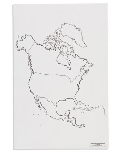 Nienhuis - Mapa Ameryka Północna - polityczne