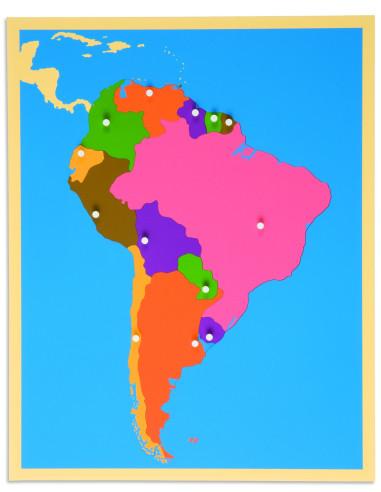 Nienhuis - Puzzlowa mapa Ameryki Południowej