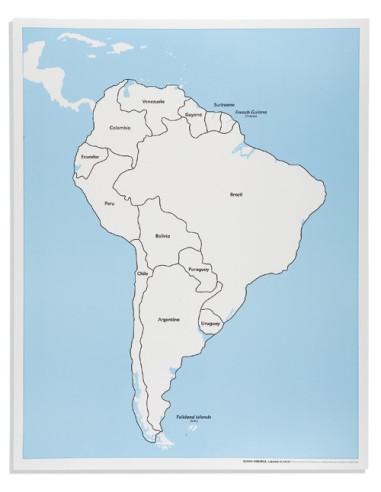 Nienhuis - Ameryka Południowa - mapa kontrolna, z podpisami
