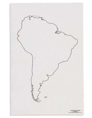 Nienhuis - Mapa Ameryki Południowa