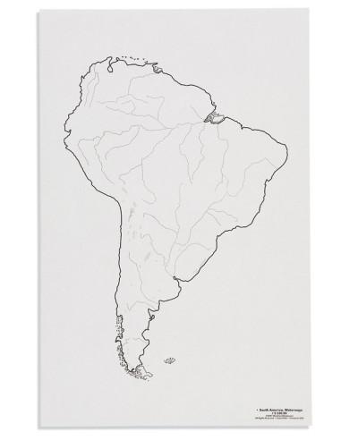 Nienhuis - Mapa Ameryki Południowa - cieki wodne