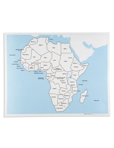 Nienhuis - Afryka - mapa kontrolna, z podpisami