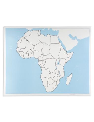 Nienhuis - Afryka - mapa do pracy
