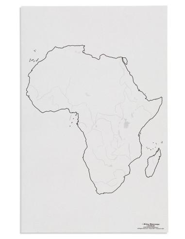 Nienhuis - Mapa Afryky – cieki wodne