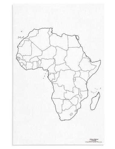 Nienhuis - Mapa Afryky – polityczne