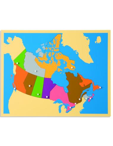 Nienhuis - Puzzlowa mapa Kanady