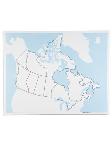 Nienhuis - Kanada - mapa do pracy