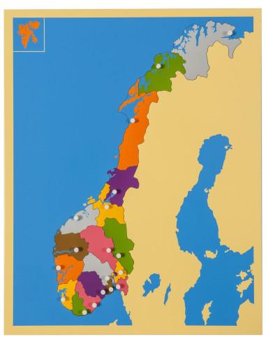 Nienhuis - Puzzlowa mapa - Norwegia