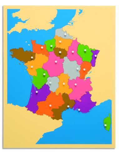 Nienhuis - Puzzlowa mapa Francja