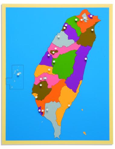 Nienhuis - Puzzlowa mapa - Tajwan