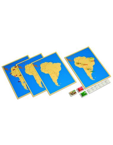 Nienhuis - 4 mapy Ameryki Południowej