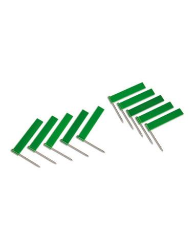 Nienhuis - Flagi zielony, 10 szt