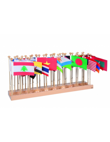 Nienhuis - Stojak z flagami - Azja