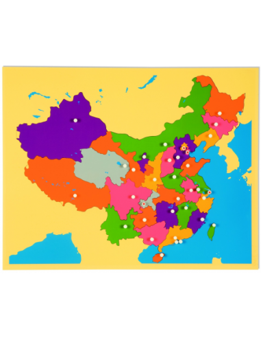 Nienhuis - Puzzlowa mapa Chiny