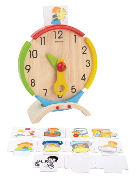 Drewniany zegar edukacyjny