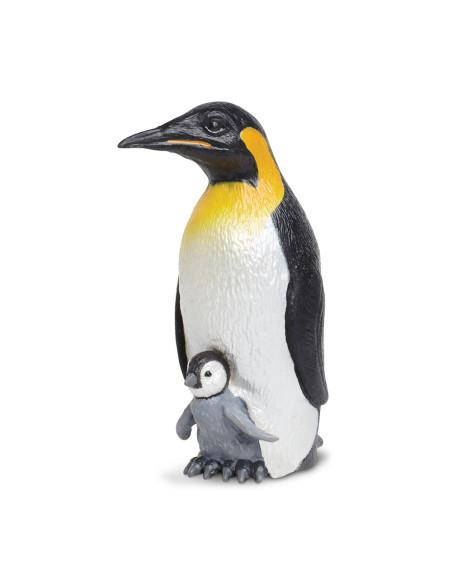 Pingwin cesarski z młodym