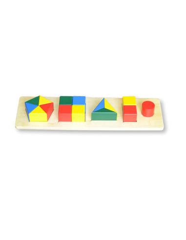 Kolorowa układanka Figury - mały rozmiar