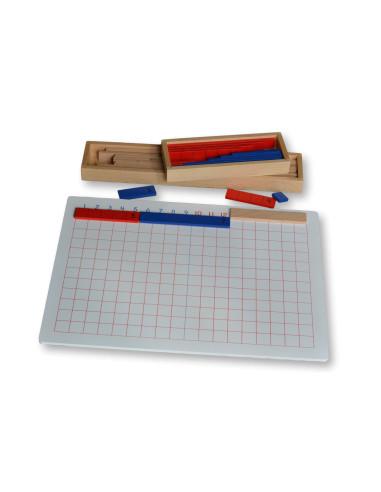 Tablica do odejmowania z listewkami