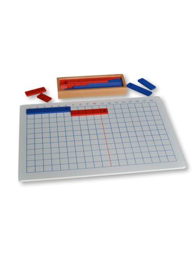 Tablica do dodawania z listewkami