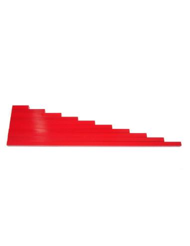 Długie czerwone belki
