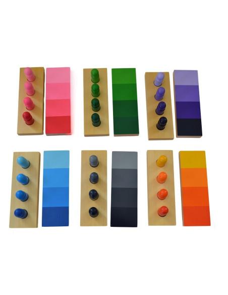 Cieniowanie kolorów - figurki z tabliczkami