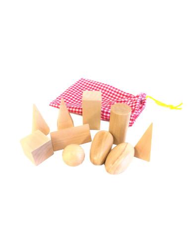 Tajemnicza torebka - małe bryły geometryczne