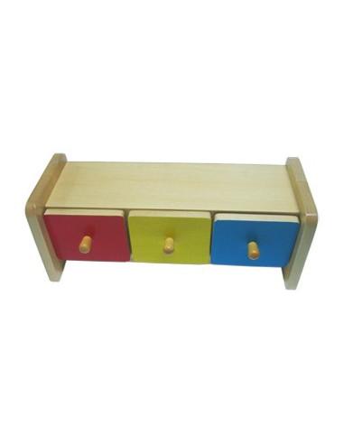 Kolorowe pudełko z szufladkami